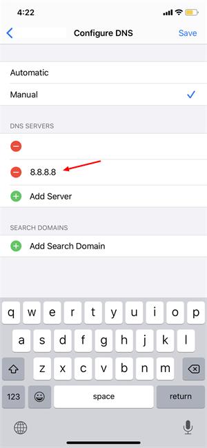 Change DNS Address