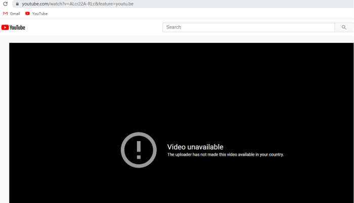 Copy Blocked YouTube Video Link