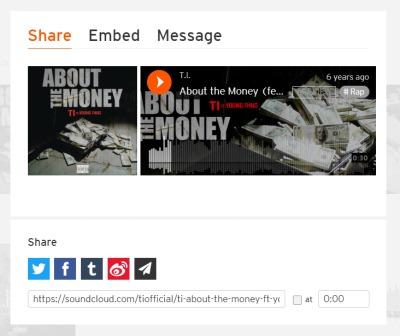 Copy SoundCloud Music URL