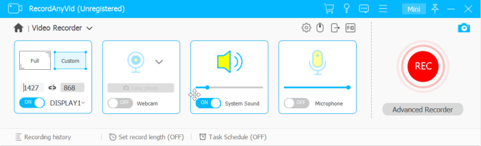 Customize Video Recorder RecordAnyVid