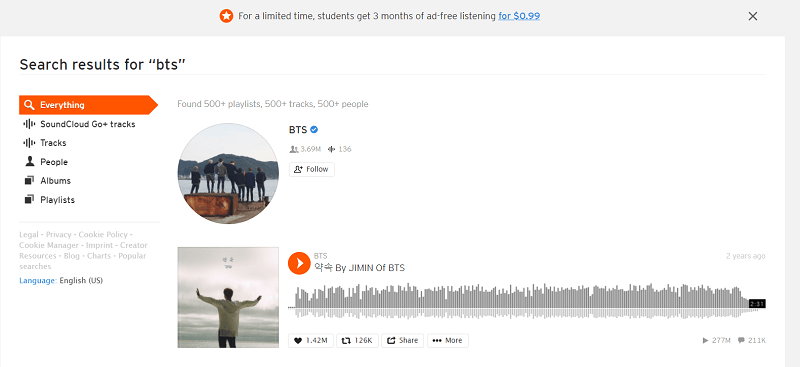 Download BTS Songs from SoundCloud