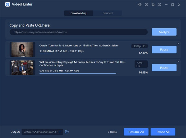 Download Dailymotion Using VideoHunter