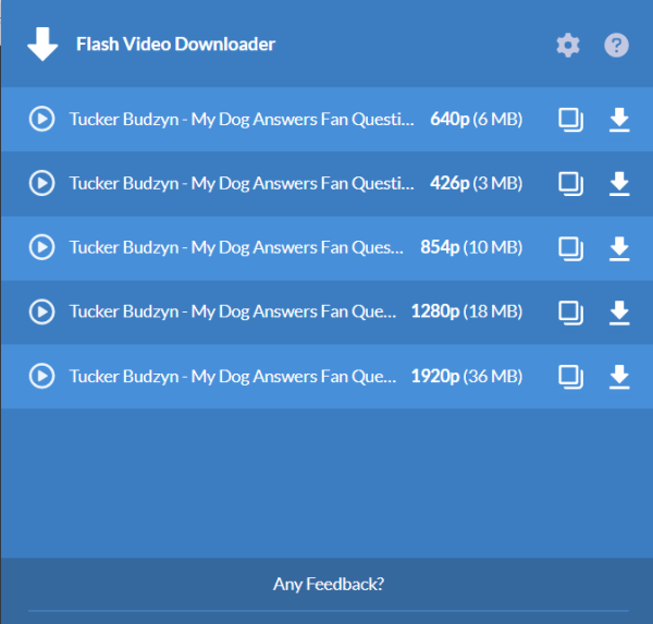 Download Video from Website Extension