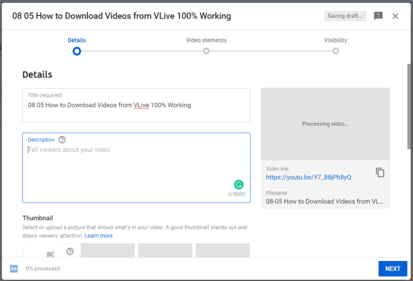 Edit Video Information