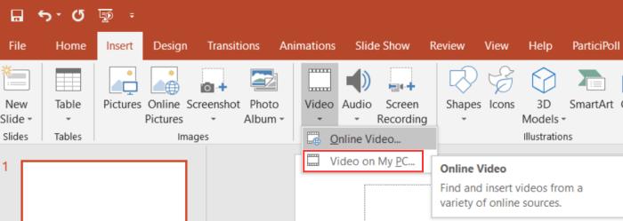 Embed Video from Desktop