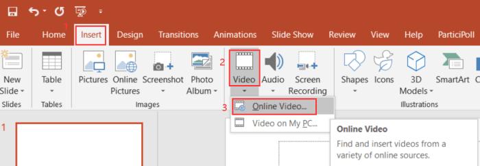 Insert Online Video PowerPoint