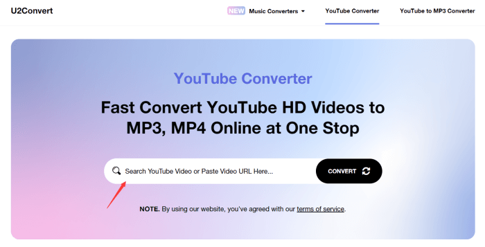 Paste URL to U2Convert