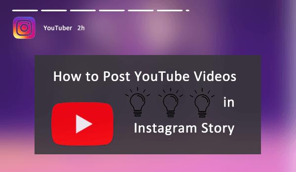 Post YouTube Video in Instagram Story