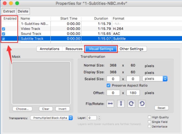 Remove Audio from Video QuickTime