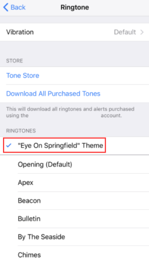 Set Ringtone iPhone