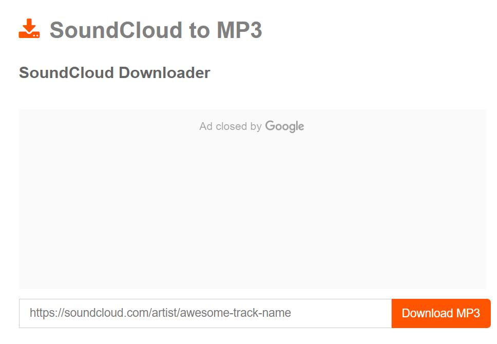 SoundCloud Mp3 Downloader