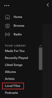 Spotify Local Files
