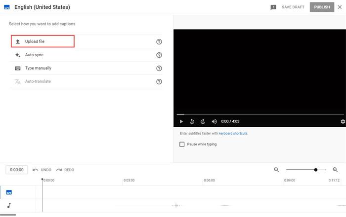 Upload Subtitle File to YouTube Video